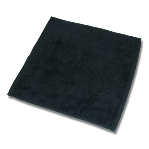 90匁ハンドタオル12枚セット:ブラック(全7色)【業務用】【両面パイル地】