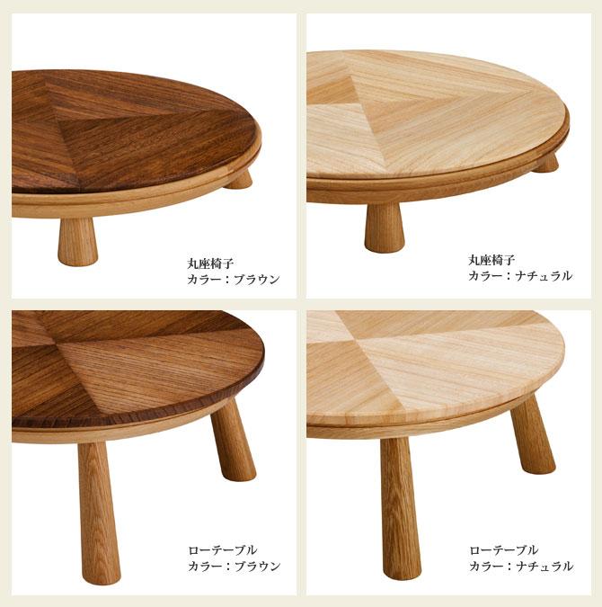 ローテーブルと丸座椅子ディテール