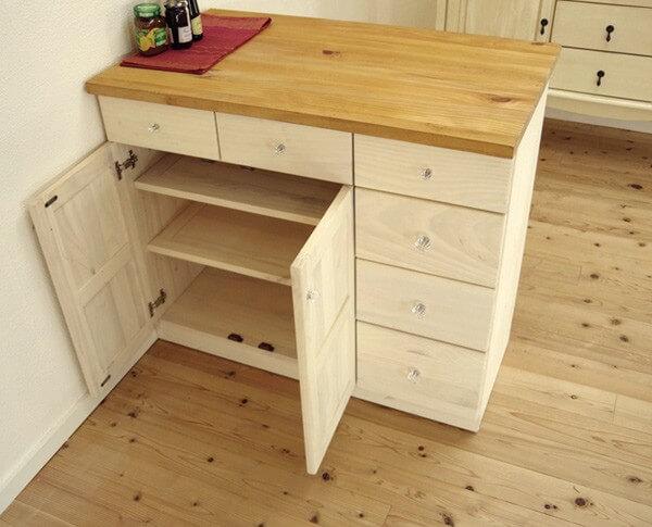 高さ86cm フレンチカントリー キッチンカウンター 木製 無垢の家具