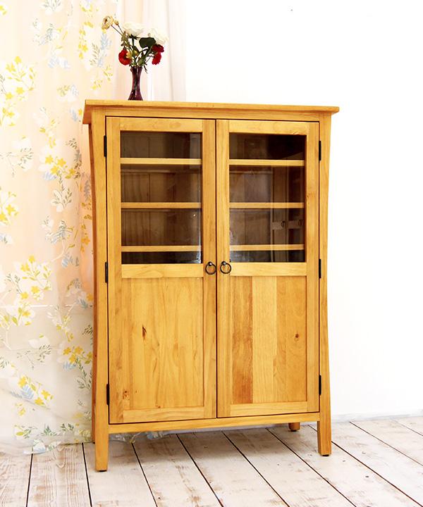 カントリーパイン 食器棚 高さ120cm コンパクト食器棚 収納棚