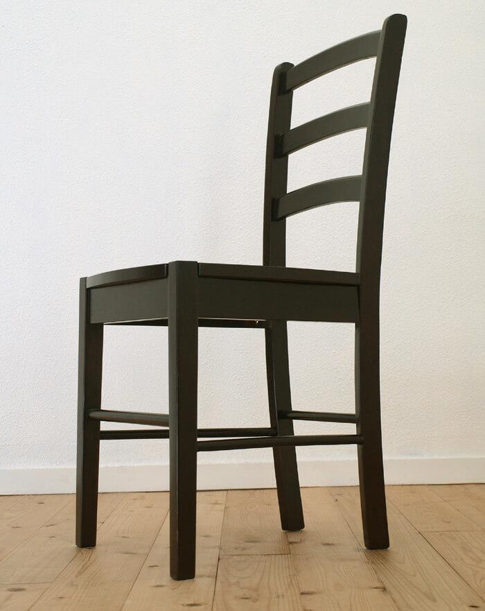 座面高45cm 業務用椅子 こげ茶色 木製ダイニングチェア シンプル椅子