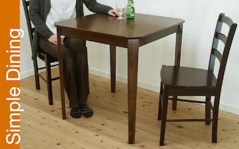 業務用 テーブル シンプル椅子 75cm角 飲食店用テーブル椅子セット