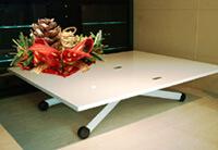 大きさも高さを変えられて便利なリフティングテーブル