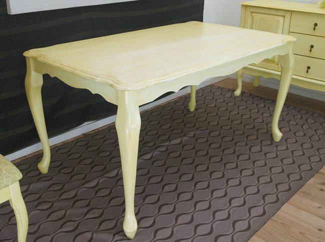猫脚ダイニングテーブル単品 150cm幅のクイーンアン様式の姫系テーブル 猫脚家具 ロコ調テーブル