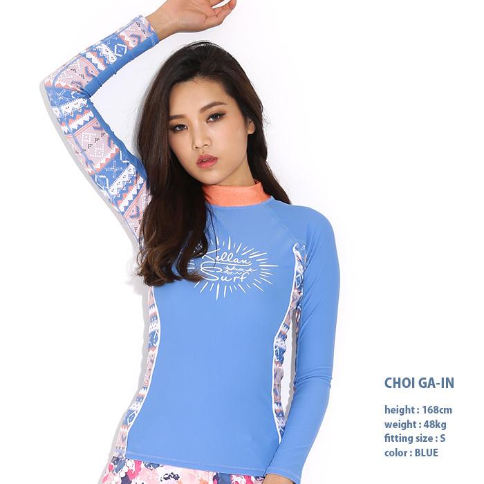 韓流アイドルにも大人気!韓国人気ブランドKELLANラッシュガード長袖