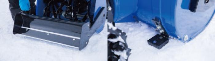 樹脂スクレーパーと樹脂スキッドプレート