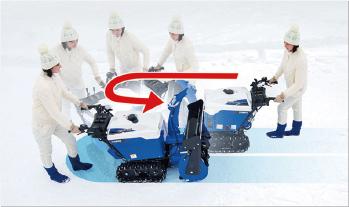 小回りが利き狭い場所での除雪作業を協力にサポート