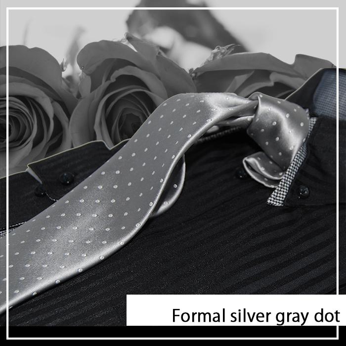 シルバー/ドット/結婚式/ポケットチーフ