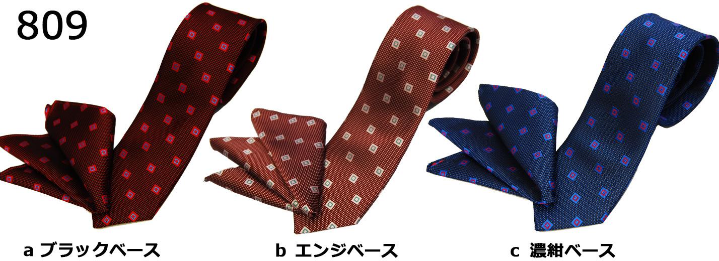 ネクタイ/ポケットチーフセット/809