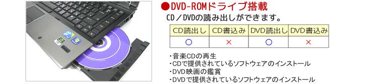 DVD-ROMドライブ搭載