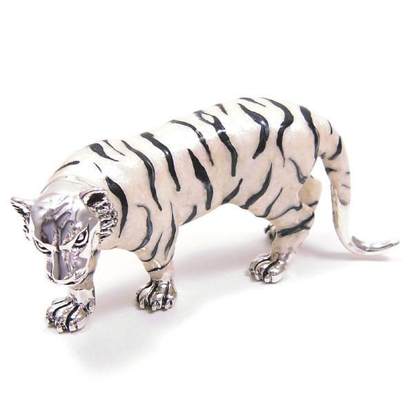 サツルノ:ホワイトタイガーの置き物