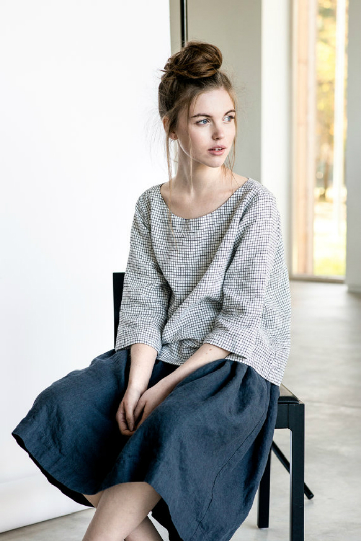 not perfect linen linen skirt with deep pockets. Black Bedroom Furniture Sets. Home Design Ideas
