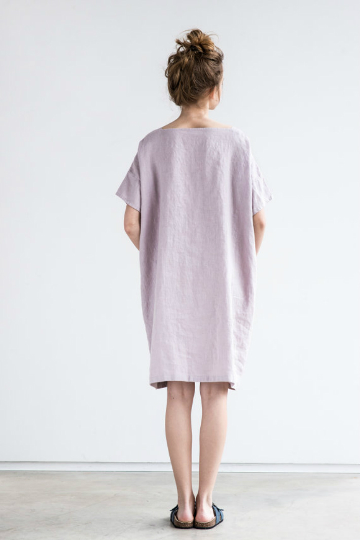 1 not perfect linen oversized one size square neck loose fitting linen summer dress. Black Bedroom Furniture Sets. Home Design Ideas