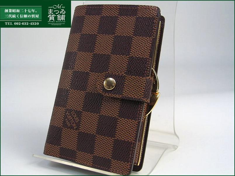 ルイヴィトン ダミエ カード用ポケット付がま口財布 N61664