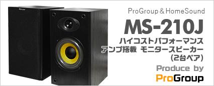 ProGroup&HomeSound / produce by ProGroup MS-210J (2台ペア) - アンプ搭載モニタースピーカー