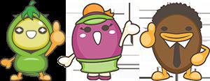 ふれん豆のキャラクター