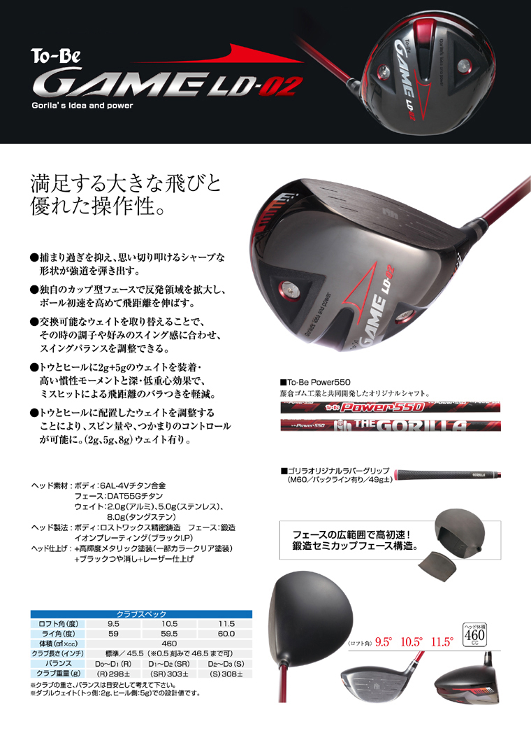 GORILLA To-Be GAME LD-02 DRIVER
