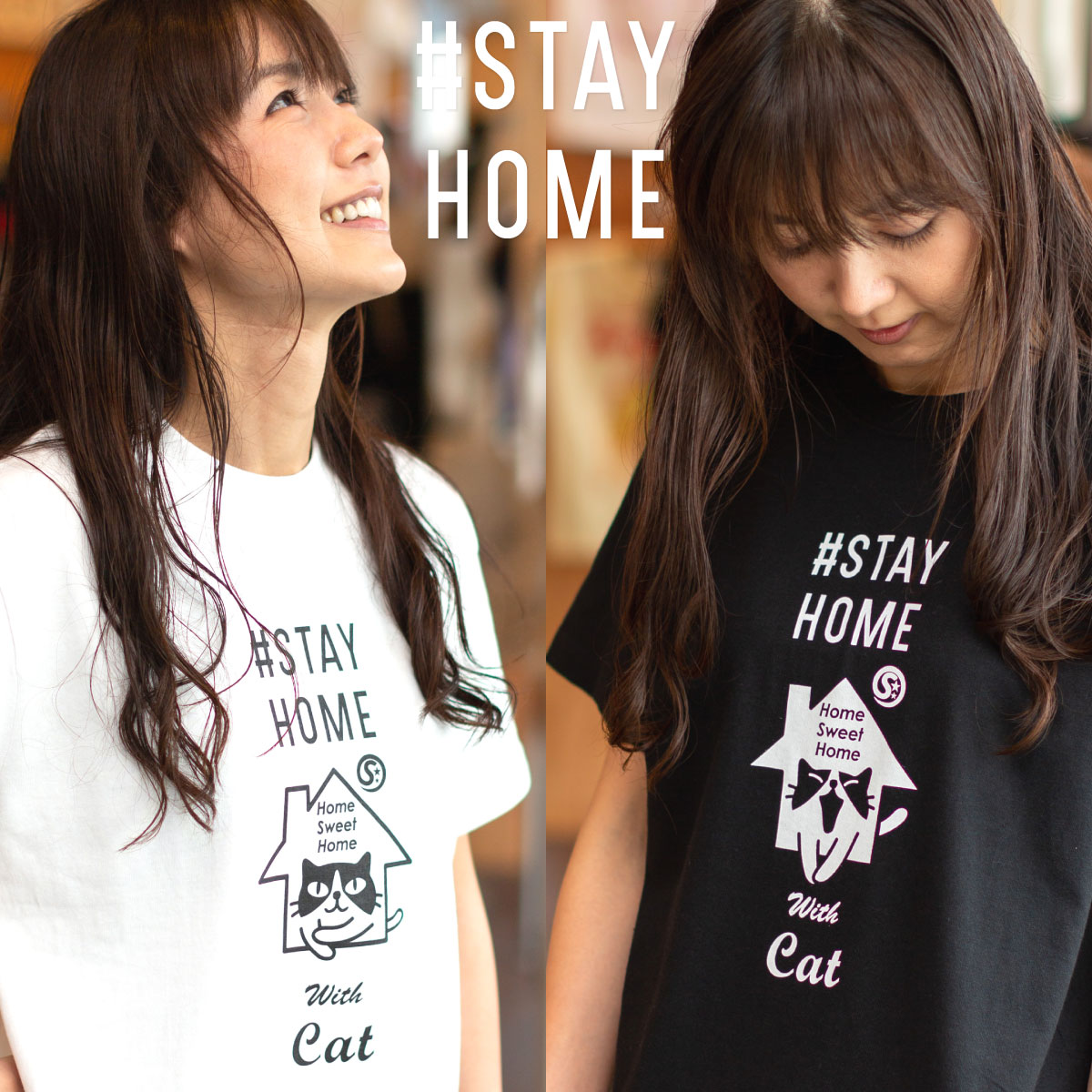 >Tシャツ STAYHOME