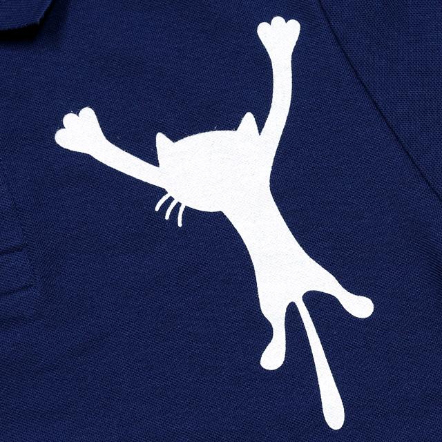 ネコ好きな人の為のポロシャツ再び!胸プリントのネコが可愛すぎて、、