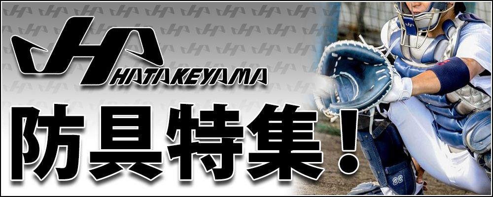 ハタケヤマ防具特集!!