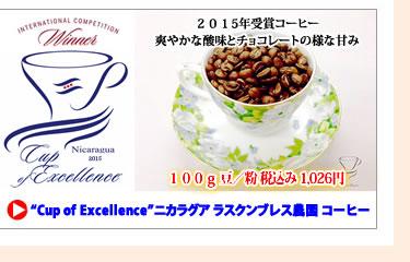カップオブエクセレンス(COE) ニカラグア ラス・クンブレス農園 コーヒー (珈琲 豆/粉)100g