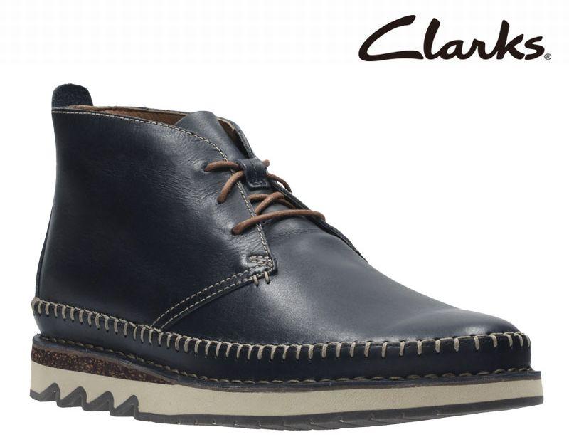【817E】【Clarks】【送料無料】【牛革】【Fallton Top】アッパー全て牛革☆   フォルトントップ カジュアルモカシンブーツビジネスシューズ紳士靴