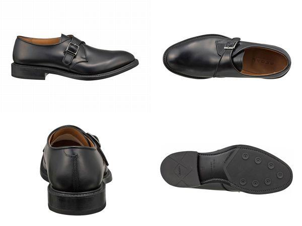 【07NRBH】【REGAL】【送料無料】【日本製】アッパー全て本革☆グッドイヤーウエルト式製法ラウンドタイプのモンクストラップビジネスシューズ紳士靴