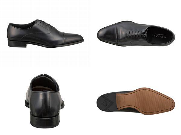 【10NRBC】【REGAL】【送料無料】【日本製】アッパー全て本革☆セミマッケイ式製法キャップトウのストレートチップビジネスシューズ紳士靴