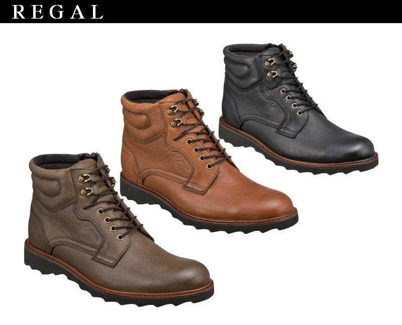 【52NRBE】【REGAL】【送料無料】ゴアテックス(r)ファブリクス☆すべて本革レースアップブーツビジネスシューズ紳士靴