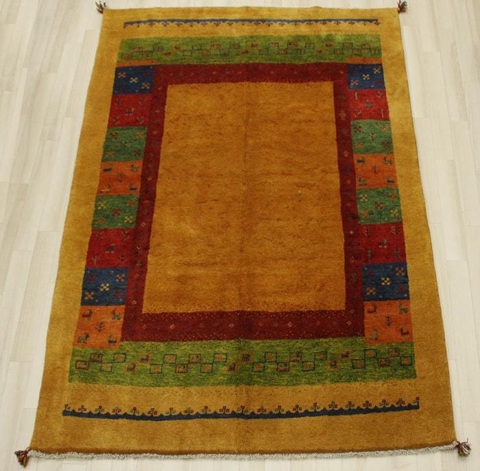 ペルシャギャベ BB12289(Y) ラグマット ウール100% 約170×232cm  オレンジ