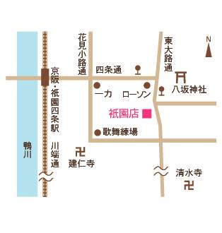 あやの小路 祇園店 地図