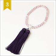 【日本製】綺麗な薄紫の数珠(念数)