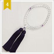 【日本製】本水晶の数珠(念数)