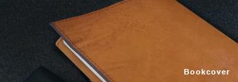 文庫サイズの本 革製ブックカバー