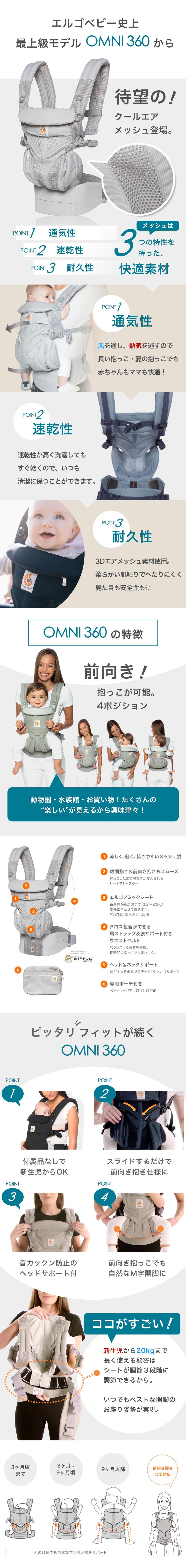 商品説明 /オムニ omni360 エルゴ baby-alice ベッビーアリス ergobaby