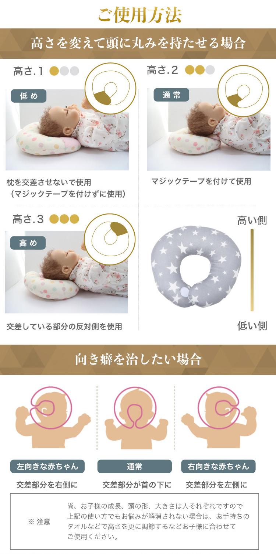 ベビー枕子どもまくらドーナツ枕セットギフトかわいい頭の形