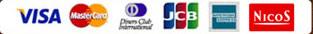 VISA/MasterCard/JCB/AMEX/Diners/Nicos