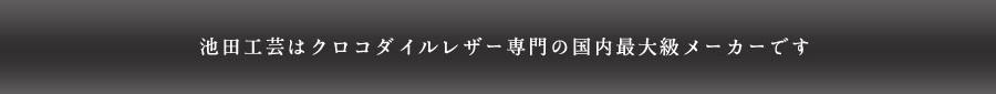 クロコダイルレザー国内最大級メーカー池田工芸