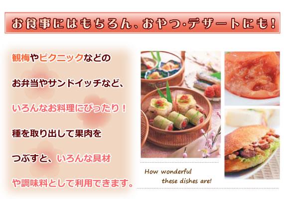 お食事はもちろん、おやつ・デザートにも!お弁当やサンドイッチなどの、お料理にもぴったり!