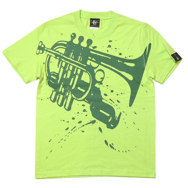 Funk Jazz Tシャツ ライムグリーン グラフィックtシャツ ジャズ ブルース ファンク スウィング 音楽 バンビ オリジナル 半袖 かっこいい おしゃれ メンズ レディース ペア ユニセックス 春夏秋コーデ 緑色 大きめサイズ XXSMLサイズ デザイン おしゃれ Tシャツ屋さんバンビ