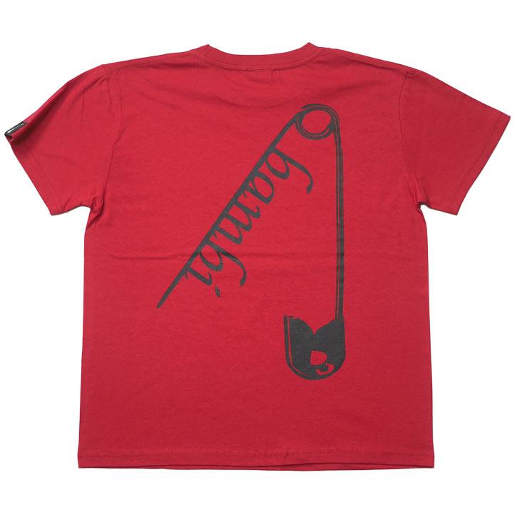 INSANITY Tシャツ レッド BPGT 半袖 トップス パンクロックTシャツ PUNK ROCK バックプリント アメカジ メンズ レディース ユニセックス ファッション 大きめサイズ あり 赤色 春夏秋コーデ XXSMLサイズ デザイン おしゃれ Tシャツ屋さんバンビ