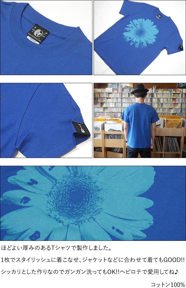 Bambi Flower Tシャツ ロイヤルブルー 半袖 フラワー 花柄 フォト 写真 かわいい アメカジ カジュアル メンズ レディース