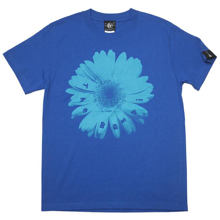 Bambi Flower Tシャツ ロイヤルブルー 半袖 フラワー 花柄 フォト 写真 かわいい アメカジ カジュアル メンズ レディース ユニセックス コットン綿100% 青色 春夏秋服コーデ オリジナル 大きめサイズ XXSMLサイズ 通販 ショップ Tシャツ屋さんバンビ
