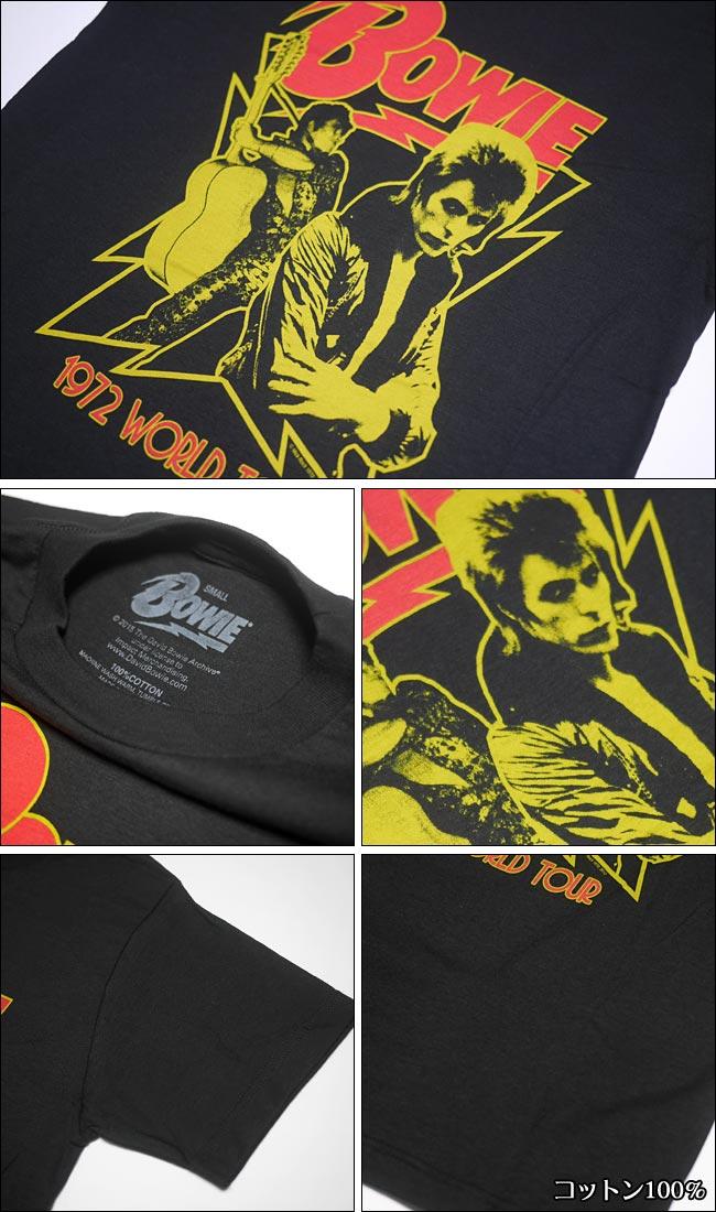 Stars Tシャツ David Bowie デヴィッド ボウイ IMPACT アーティスト ロック ROCK ロックTシャツ スター 星 グラムロック ロックスター メンズ ユニセックス 半袖 ブラック 黒色 セレクトアイテム ファッション Sサイズ Mサイズ カジュアル
