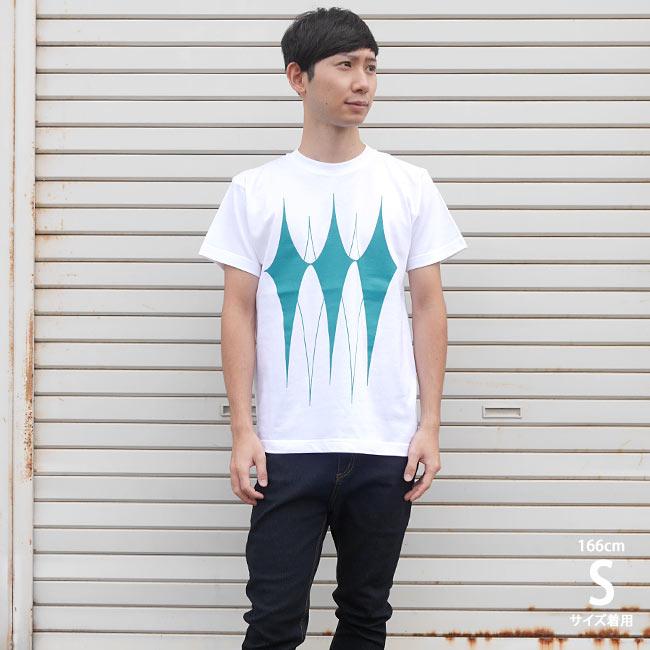 ダイヤ Tシャツ ホワイト 半袖 白 しろ ダイヤモンド トランプ グラフィック メンズ レディース ユニセックス ストリート アメカジ カジュアル スポーツ かっこいい 男女兼用 XXSMLサイズ 大きいサイズあり 春夏秋服コーデ オリジナル Tシャツ屋さんバンビ