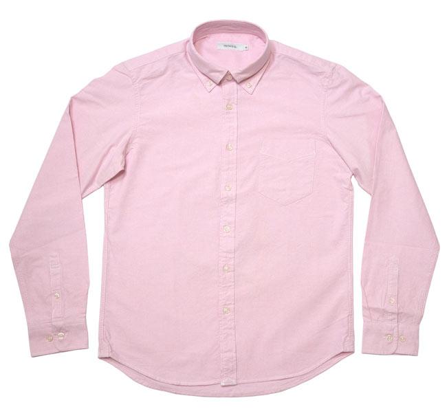 オックスフォード BDシャツ ブルー ホワイト ブラック ピンク パープル VINTAGE EL ヴィンテージイーエル 長袖シャツ OXシャツ ボタンダウンシャツ Yシャツ トップス カジュアル きれいめ かっこいい 定番 コーデ メンズ ファッション 青 白 黒 桃色 紫 Mサイズ Lサイズ XLサイズ Tシャツ屋さんバンビ セレクトアイテム
