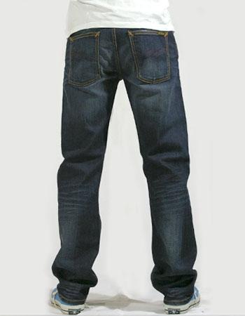 sale nudie jeans average joe straight leg dark organic used blue addict. Black Bedroom Furniture Sets. Home Design Ideas