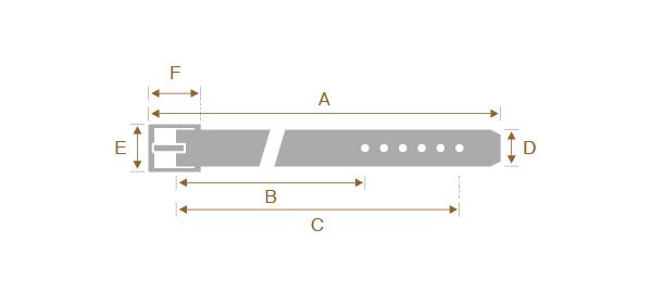 ベルトのサイズの測り方