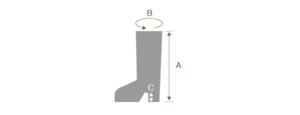 ブーツのサイズの測り方