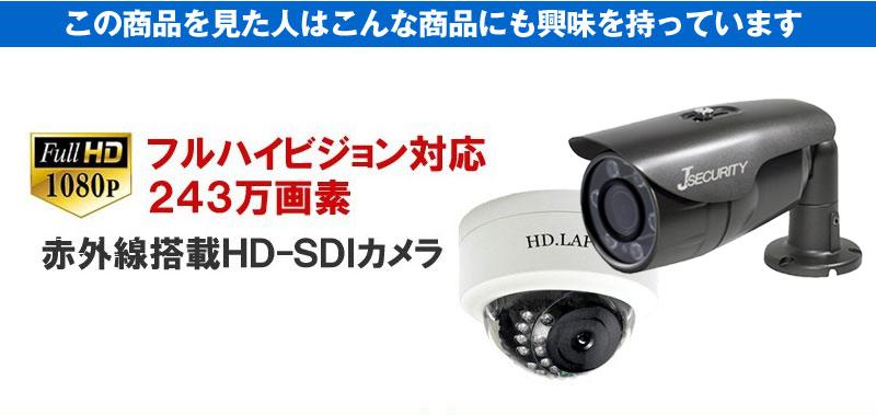 こんな商品を見た人はこんな商品にも興味をもっています。フルハイビジョン対応243万画素赤外線搭載HD-SDIカメラ